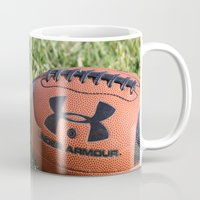 football Mugs featuring Football by Images by Danielle