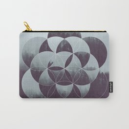 Sacred Geometry in the Forest Carry-All Pouch