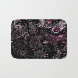 Pink Roses in Anzures 2 Paisley 2 Bath Mat