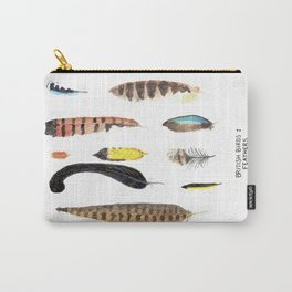 British Birds: Feathers Carry-All Pouch