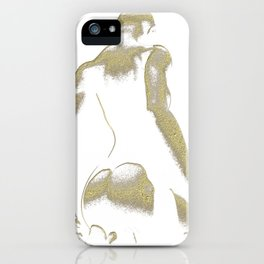Golden Seated Goddess white version iPhone Case