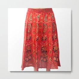 Paisley Print Skirt For Girls Metal Print
