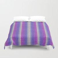knitting Duvet Covers featuring grannys knitting  by MehrFarbeimLeben