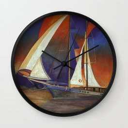 Gulet Under Sail Wall Clock