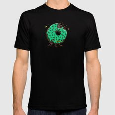 Zombie Donut 01 MEDIUM Mens Fitted Tee Black