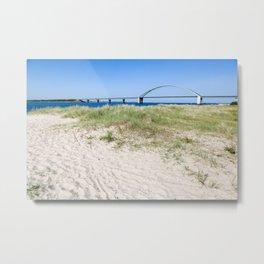 Fehmarn Belt Bridge Metal Print
