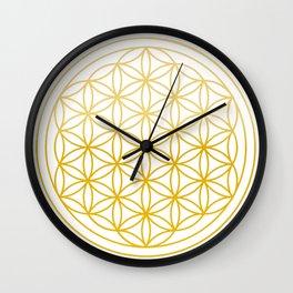 Flower of life Golden Wall Clock