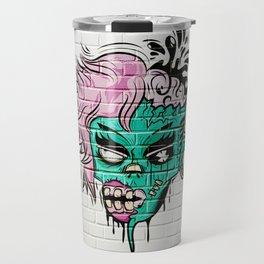 Zombie Graffiti Wall Travel Mug