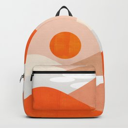 Abstraction_SUNSET_LAKE_Mountains_Minimalism_001 Backpack