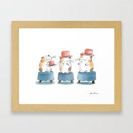 Mr Cavy Loves His Hat Framed Art Print