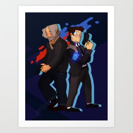 Hank and Connor Buddy Cops Art Print
