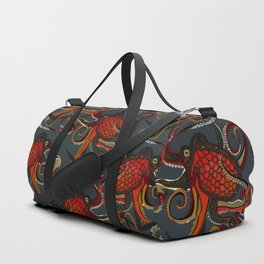octopus ink gunmetal Duffle Bag