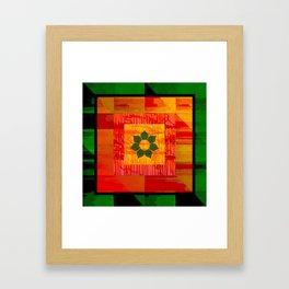 Rasta Colors with Flower Framed Art Print