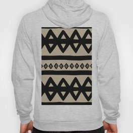Hand Drawn Tribal - Triangle Stripes Pattern Hoody