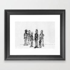 The Send-Off Framed Art Print