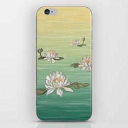 Drifting Water Lilies iPhone Skin