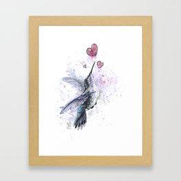 Lovely bird Framed Art Print