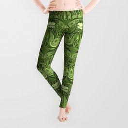 Bodacious Beard - Green Leggings