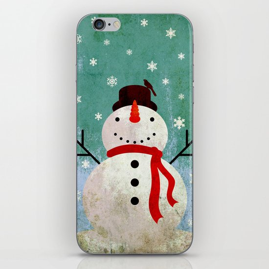 snowpy christmas iPhone & iPod Skin