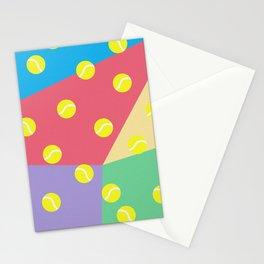 Tennis 80's Vintage Pattern Stationery Cards