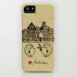 Hedgehogs in Amsterdam iPhone Case
