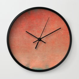 Minimal Abstract Orange Colorfield Painting 02 Wall Clock