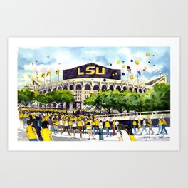 LSU Game Day Art Print
