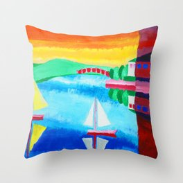 Day and Night Throw Pillow