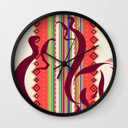 Interstellar Alpacas Wall Clock