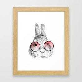 rabbit's glasses Framed Art Print