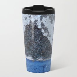 Blue and White Crumbling Travel Mug