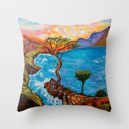 Sunset at Torrey Pines Throw Pillow