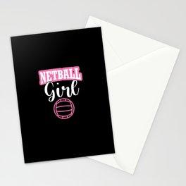 Netball Girl Shirt - Gift Idea Netball Pink Stationery Cards