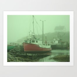 Day at Maine Art Print
