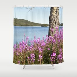 Summer At The Polar Circle Shower Curtain