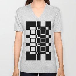 Chic Checkerboard Unisex V-Neck