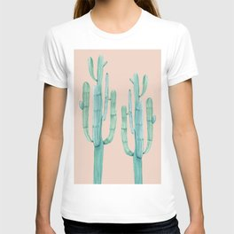 Besties Cactus Friends Turquoise + Coral T-shirt