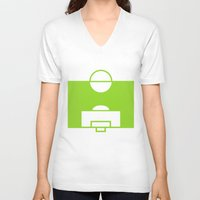 soccer V-neck T-shirts featuring SOCCER by AURA-HYSTERICA