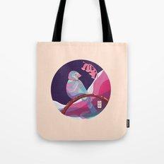 bird in colors Tote Bag