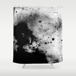 War - Abstract Black And White Shower Curtain