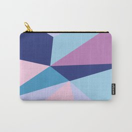 Geometrical pink teal lilac modern colorblock Carry-All Pouch