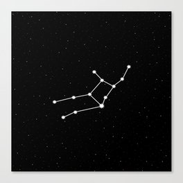 Virgo Star Sign Night Sky Canvas Print