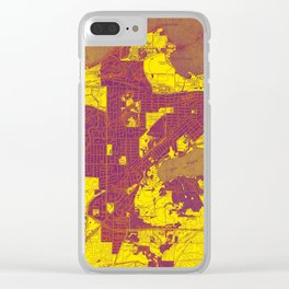 Madison West Wisconsin vintage map year 1959, rustic map, poster map Clear iPhone Case