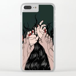 Jungle of the Sleeping Flames Clear iPhone Case