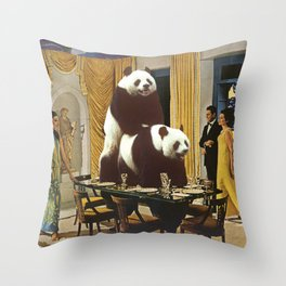 The Problem with Pandas Throw Pillow