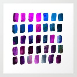 Brushstrokes 1zf by Kathy Morton Stanion Art Print