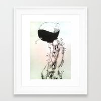human Framed Art Prints featuring Human by Zina Nedelcheva