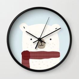 Bundled Bear Wall Clock