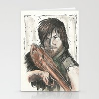 daryl dixon Stationery Cards featuring Daryl Dixon by Eric Dockery