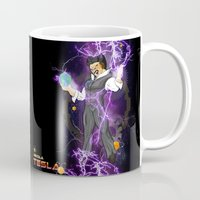 dbz Mugs featuring DBZ Tesla by Hushy